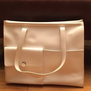 Authentic White Furla Pocketbook